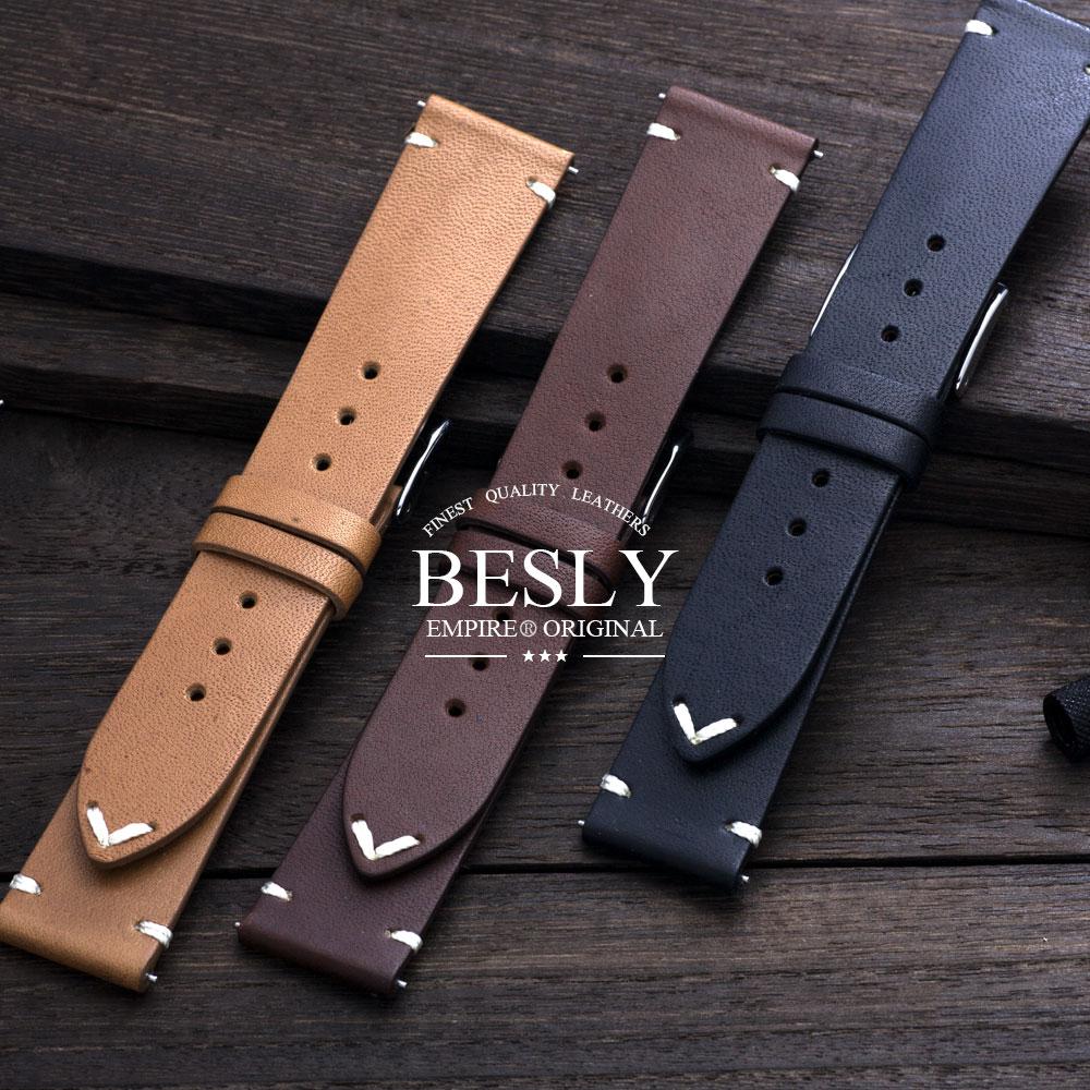 時計 ベルト EMPIRE BESLY(ベスリー) Horween ホーウィン レザー 腕時計 バンド 18mm 20mm イージークリック [ランキング受賞R][ランキング受賞D]