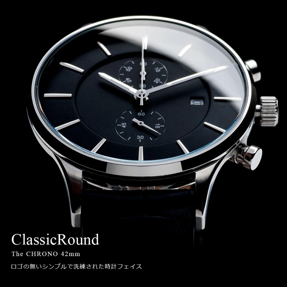 ClassicRound The Chrono 42mm クラシックラウンド クロノグラフ 腕時計 メンズ(ベルト別売り)