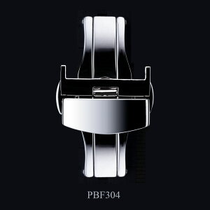 EMPIRE腕時計の着脱が楽々!ベルトの寿命もUP!観音開きプッシュ式Dバックル時計腕時計バンドストラップベルトPBF304BUCKLE16mm18mm20mm22mm