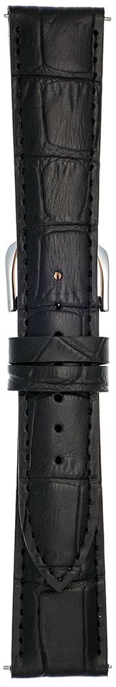 EMPIREBRUNA(ブルーナ)カーフレザー本革クロコ時計ベルト腕時計バンドイージークリック10mm12mm13mm14mm15mm16mm17mm18mm19mm20mmブラック替えベルト送料無料