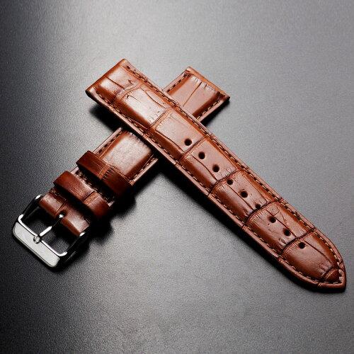時計ベルトワニEMPIREPremiumLIAMリアムアリゲーターイタリアン耐汗ライニング時計ベルトブラック18mm20mm22mm