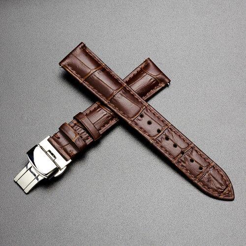 腕時計ベルトバンドEMPIREGIULIOジュリオクロコ型押しレザー時計ベルト革Dバックルイージークリック18mm20mm
