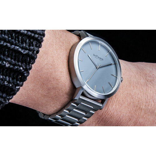 InTimesBauhausic43mmインタイムスメンズ腕時計ステンレス/ナイロン