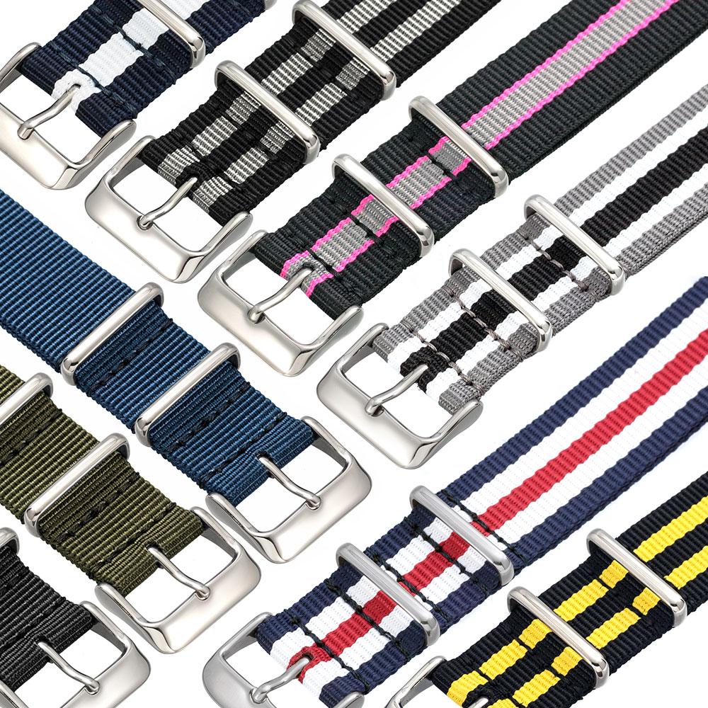 EMPIRE NATO ベルト 時計 バンド 着け心地良くしなやかで肌触りのよい高密度ナイロン ミリタリー 腕時計 18mm 20mm 22mm ダニエルウェリントン クルース オメガ セイコーにも 腕時計 ベルト 時計ベルト 腕時計ベルト