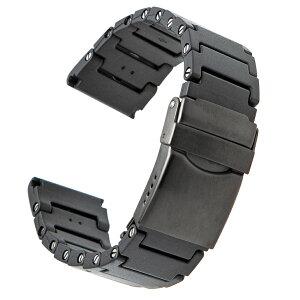 時計 ベルト 腕時計 バンド EMPIRE UNION ユニオン 3000 超軽量 連結 ウレタン 時計ベルト 腕時計ベルト オールブラック 22mm アップルウォッチにも
