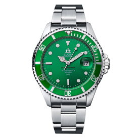ELGIN エルジン メンズ 腕時計 自動巻き ダイバー 200M防水 グリーン