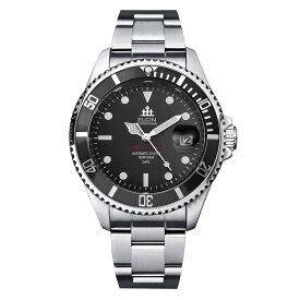 ELGIN エルジン メンズ 腕時計 自動巻き ダイバー 200M防水 ブラック