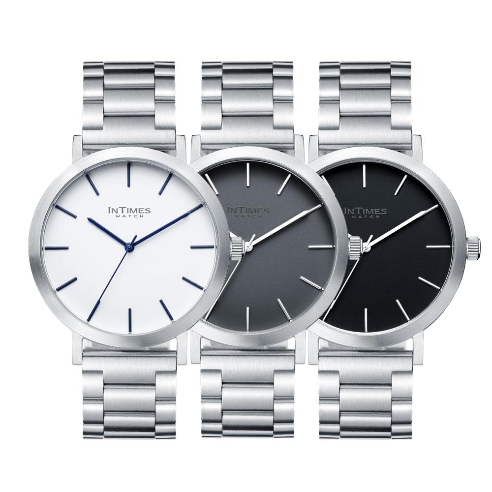 InTimes Bauhausic 43mm インタイムス メンズ 腕時計 ステンレス/ナイロン