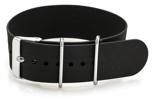 EMPIRENATOシリコン時計ベルト腕時計バンドブラック18mm20mm22mm