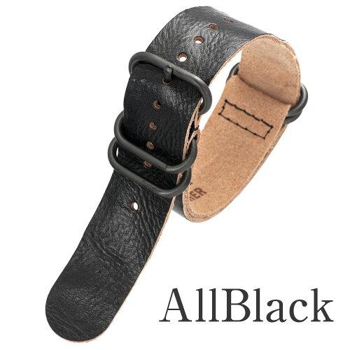 EMPIREオイルドイタリアンレザーZULUミリタリーベルト腕時計NATOバンドストラップ18mm20mm22mm