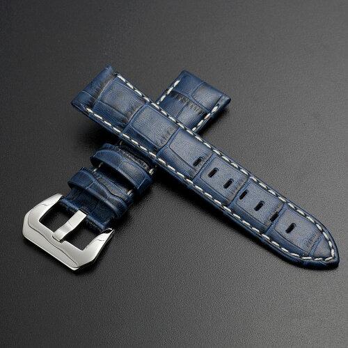 EMPIREパネライ向けイタリアンレザークロコ本革時計ベルト22mm24mm