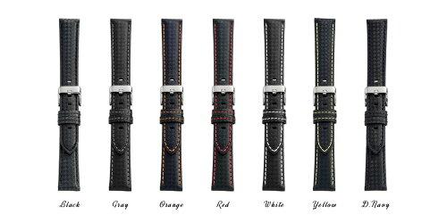 EMPIRECARBON(カーボン)時計ベルトイタリアンレザー本革バンド18mm20mm22mmイージークリック腕時計ベルト時計ベルト腕時計ベルト革