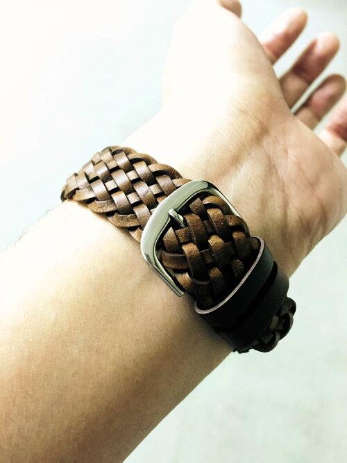 EMPIREとにかく渋い!ANTIQUEBRAID編込み本革アンティーク感のあるメキシコ製レザー本革時計ベルトバンドストラップ20mm