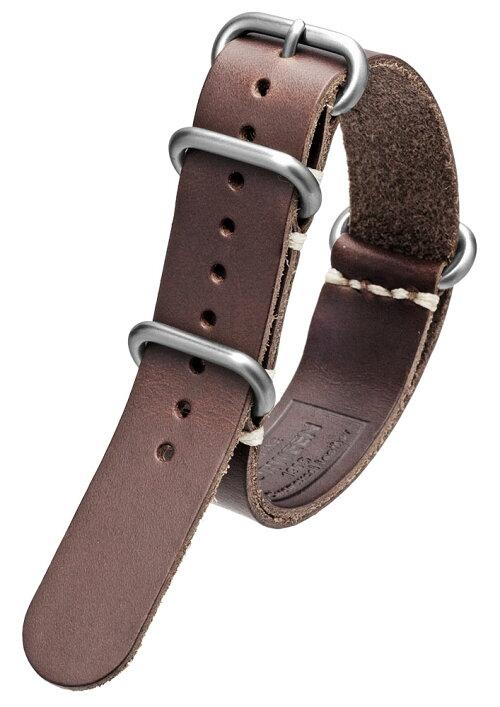 EMPIREホーウィンクロムエクセルレザーZULUミリタリー本革腕時計ベルトバンドストラップ18mm20mm22mm