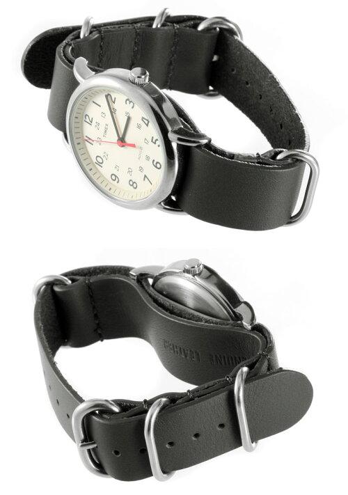 EMPIREZULUミリタリー本革レザー腕時計NATOベルトバンドストラップ18mm20mm22mm