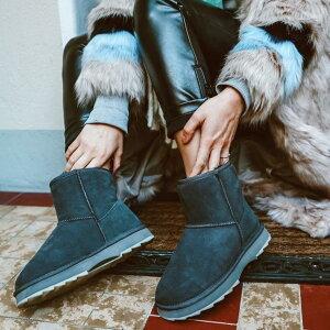 【公式】EMU Australia エミュ Sharky Mini ブーツ ムートンブーツ シープスキンブーツ 厚底 レディース メンズ 撥水 送料無料