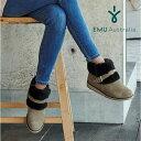 【スーパーセール限定特価】【公式】EMU Australia エミュ Oxley Fur Cuff メリノウールブーツ 撥水 ショートブーツ レディース 送料無料