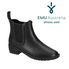 【公式】EMU Australia エミュ レインブーツ ボア 2WAYインソール Ellin Rainboot サイドゴア レインシューズ ショートブーツ レディース 防水 送料無料