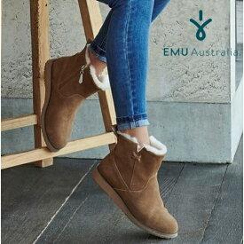 【公式】EMU Australia エミュ Beach Mini ブーツ メリノウール 撥水 サイドジップ ショートブーツ レディース メンズ 送料無料
