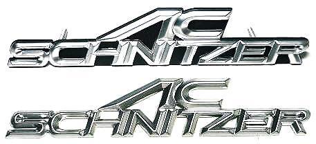 【M's】BMW AC SCHNITZER ACシュニッツアー NEW フロントエンブレム+リアエンブレムSET新品