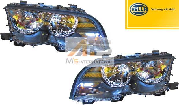 【M's】E46 BMW 3シリーズ(前期)HELLA製 ハロゲン ヘッドライト(左右)//純正OEM 316ti 318ci 320i 325i 330ci 6312-6902-747 6312-6902-748 63126902747 63126902748 日本仕樣 左側通行用 車検対応品