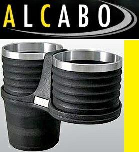 【M's】ジャガー Sタイプ 後期型(2002y-2007y)フィアット パンダ 2代目(2003y-2011y)ALCABO ドリンクホルダー ブラック+アルミリングカップタイプ//ツインタイプ カップホルダー アルカボ AL-B110BS ALB110BS 新品