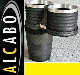 【M's】F55 F56 BMW ミニ(2013y-)ALCABO ドリンクホルダー(ブラック+リング カップタイプ)//アルカボ カップホルダー 黒 アルミ MINI ワン クーパー クーパーS 3代目 AL-B111BS ALB111BS