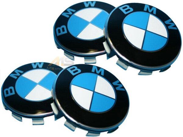 【M's】BMW 純正品 ホイールセンターキャップ1台分(4枚)(NEWタイプ 68,5mm)36136783536 3613-6783-536 新品