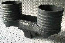 【M's】BMW E60 E61 M5(マイナーチェンジ前車)ALCABO製 ドリンク&ポケットホルダー(ブラックカップタイプ)新品