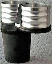 【M's】ボルボ S40/V50(2004y-2012y) V40(2013y-)ALCABO ドリンクホルダー(シルバー カップタイプ)//社外品 アルカボ VOLVO センターコンソール用 カップホルダー AL-B107S ALB107S
