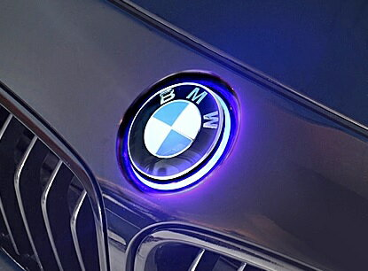 【M's】BMW 各種/純正エンブレム+エンブレムマーカー セット(フロント用)//光るエンブレム ブルー LED 275559 F20 E88 E87 E82 E81 1シリーズ F22 F23 F45 F46 2シリーズ F30 F31 F34 F80 M3 E90 E91 E92 E93 E46 E36 E30 3シリーズ F32 F33 F36 F82 M4 4シリーズ