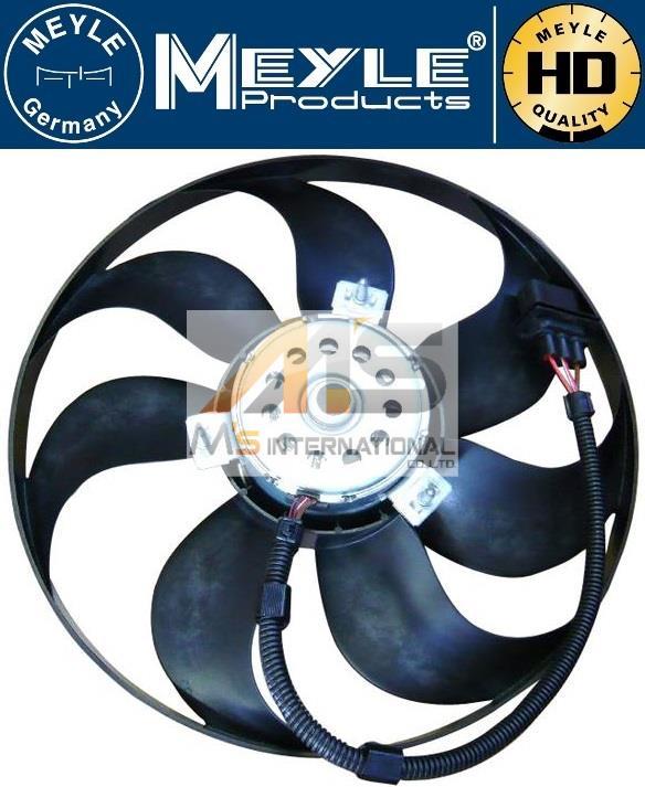 【M's】アウディ TT/TTS/TTRS MEYLE製 ラジエーター 電動ファン(345mm)//社外品 AUDI ブロアファン アディショナルファン 6X0-959-455C 6X0959455C