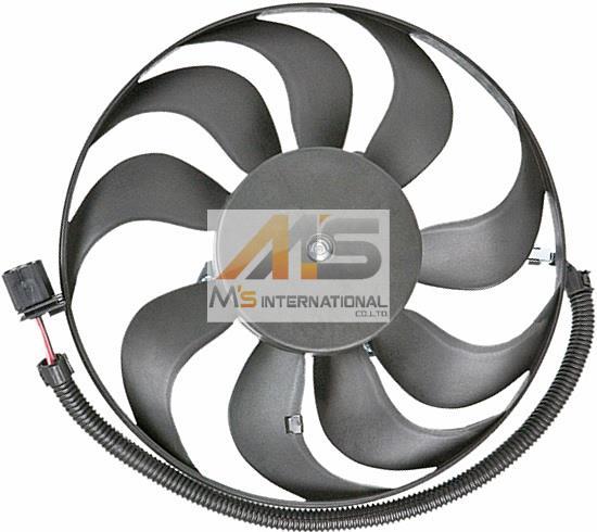 【M's】アウディ TT(8N)ラジエーター 電動ファン(290mm)//純正OEM 社外品 ラジエター ブロアファン アディショナルファン AUDI 小 1J0-959-455R 1J0959455R