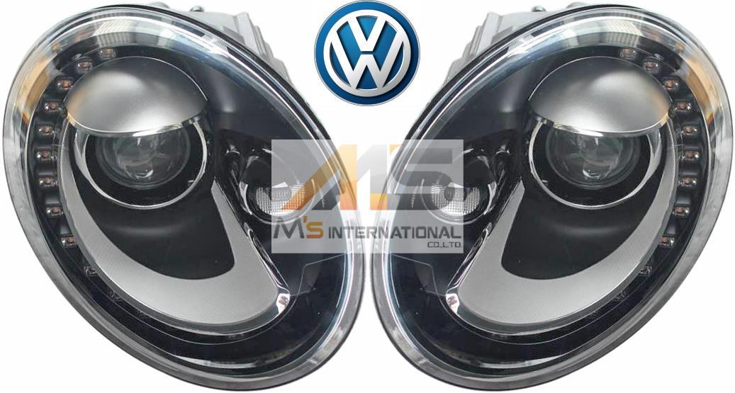 【M's】VW ザ・ビートル 5C/16C/16CBZ(2012y-)純正品 キセノン ヘッドライト 左右(右ハンドル車用)//正規品 キセノンライト HID The Beetle カブリオレ 5C2-941-031B 5C2-941-032B 5C2941031B 5C2941032B