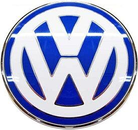 【M's】VW ニュービートル 9C(1998y-2010y)純正品 フロント エンブレム(ブルー/ホワイト)//正規品 ボンネット エンブレム New Beetle ビートル 青/白 1C085361739A