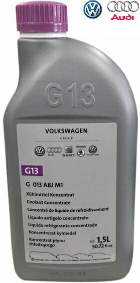 【M's】VW アウディ 純正品 ロングライフクーラント 1.5L(G13)//正規品 冷却水 クーラント液 LLC フォルクスワーゲン VOLKSWAGEN G-013-A8J-M1 G013A8JM1