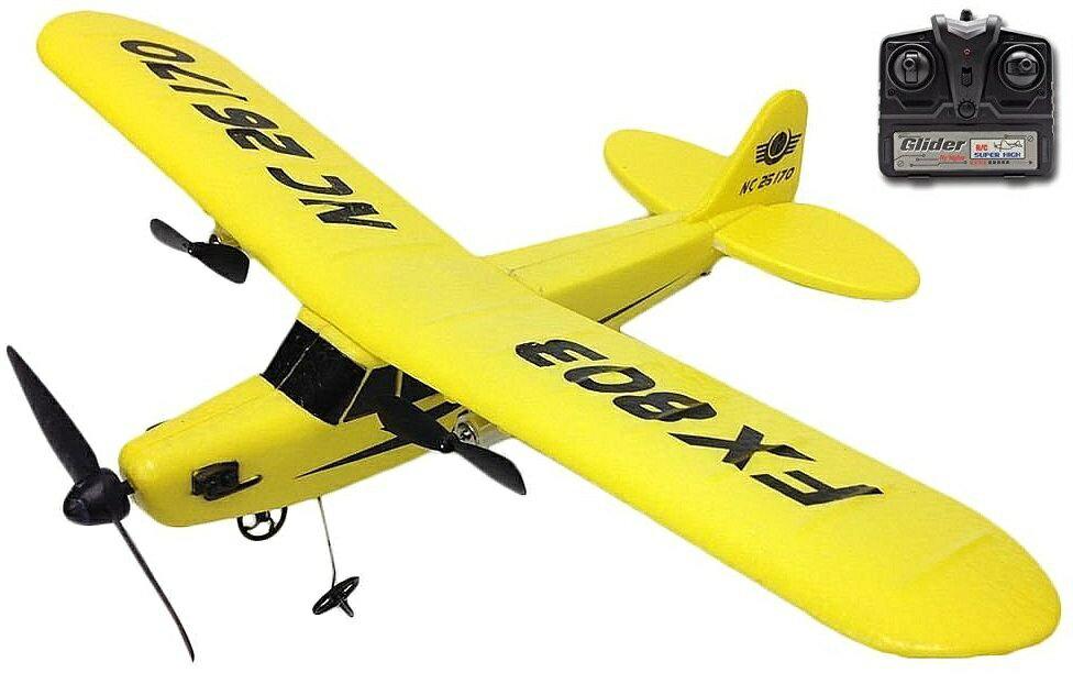 【M's】ラジコン 飛行機 ミニ セスナ 型 / 有効距離 80〜100m 組み立て不要 耐衝撃素材 / 超軽量 簡単操作 / プロペラ 機 翼幅約33cm