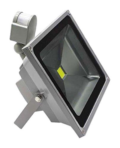 【M's】LED 投光器 30W 人感センサー付 昼光色 2400ルーメン 6000K センサーライト 防犯 ライト