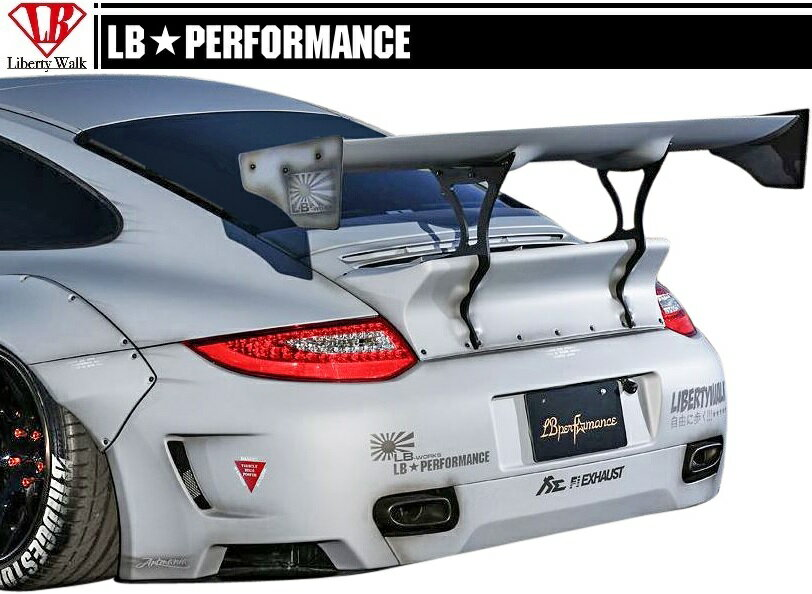 【M's】 ポルシェ 911 (997) LB パフォーマンス リア バンパー // リヤ R スポイラー/ PORSCHE LB WORKS / PERFORMANCE Body kit FRP リバティウォーク 単品