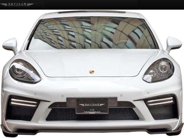【M's】 ポルシェ 970 後期 Panamera GTS/ターボ (13y-/ショート) ARTISAN SPIRITS製 SPORTS LINE ARS フロントバンパーキット // Porsche パナメーラ アーティシャン ユーロナンバーベース/LEDカバーLR/アンダースポイラー/ネット付 受注 エムズ 大人気 新品
