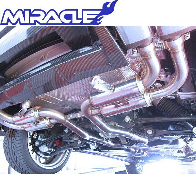 【M's】ポルシェ 958 カイエンターボ MIRACLE製 可変リアマフラー//ステンレス ミラクル 3271 リモコン付 可変マフラー Porsche CAYENNE 新品