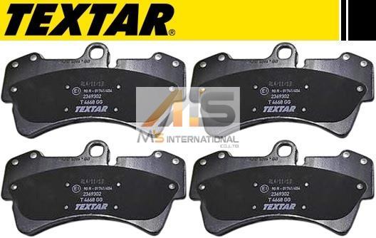 【M's】ポルシェ カイエン 955 GTSターボ(02y-06y)TEXTAR製 フロント用 ブレーキパッド(左右)//純正OEM Cayenne テクスター フロントブレーキパッド 955-351-939-15 95535193915 23693-02 2369302