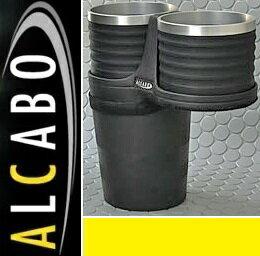 【M's】ポルシェ マカン 95B(2014y-)ALCABO ドリンクホルダー(ブラック+アルミリング カップタイプ)//アルカボ カップホルダー PORSCHE Macan AL-P203BS ALP203BS