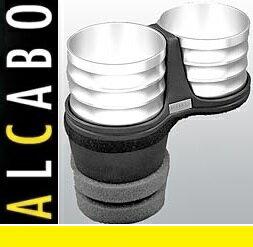 【M's】ポルシェ カイエン 958(2010y-)ALCABO ドリンクホルダー(シルバーアルミ カップタイプ)//アルカボ カップホルダー PORSCHE AL-M312S ALM312S