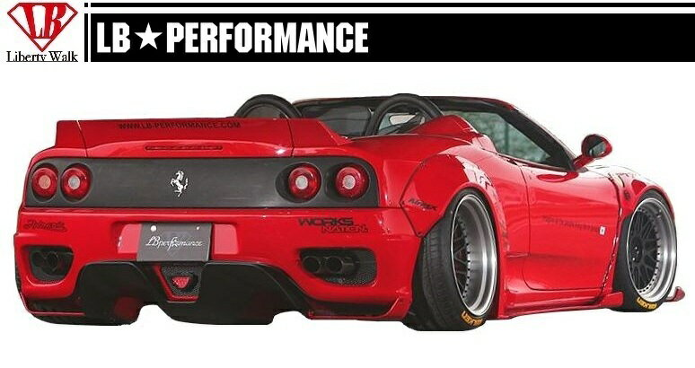 【M's】 フェラーリ 360 モデナ/F1/スパイダー/ リア ディフューザー / LB PERFORMANCE エアロ // リヤ スポイラー スカート FRP/LB WORKS/Liberty Walk/リバティウォーク/Ferrari F360