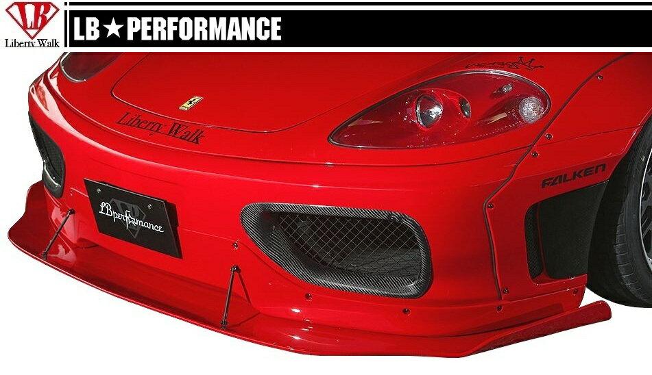 【M's】 フェラーリ 360 モデナ/F1/スパイダー/ フロント ディフューザー / LB PERFORMANCE エアロ // リップ スポイラー FRP/LB WORKS/Liberty Walk/リバティウォーク/Ferrari F360