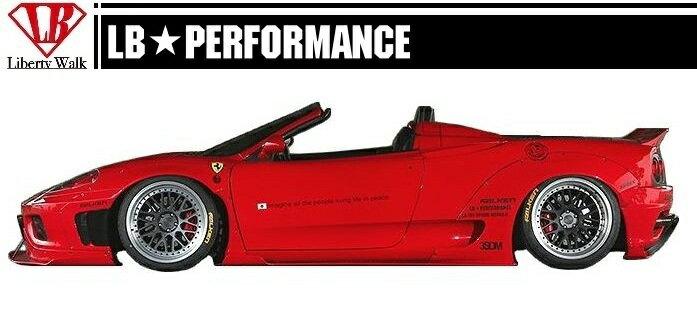 【M's】 フェラーリ 360 モデナ/F1/スパイダー/ サイド ディフューザー / LB PERFORMANCE エアロ // スポイラー スカート FRP/LB WORKS/Liberty Walk/リバティウォーク/Ferrari F360