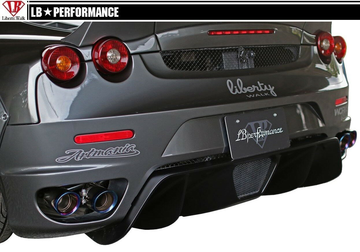 【M's】 フェラーリ F430 / リア ディフューザー / LB PERFORMANCE エアロ // リヤ スポイラー スカート FRP / LB WORKS / Liberty Walk / リバティウォーク/ Ferrari