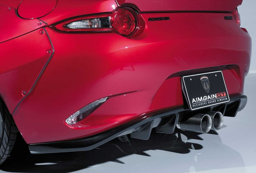 【M's】 マツダ ND ロードスター リア アンダー スポイラー(センター出しマフラー専用)/ AIMGAIN GT / エイムゲイン エアロ // リヤ ディフューザー スカート / MAZDA ND5RC ROADSTER MX-5 / rear under spoiler