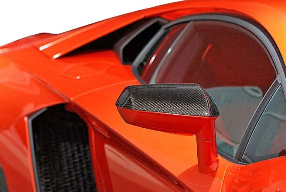 【M's】ランボルギーニ アヴェンタドール LP700-4(2011y-)LEAP DESIGN カーボン ドアミラーカバー 左右//Lamborghini Aventador リープデザイン 新品